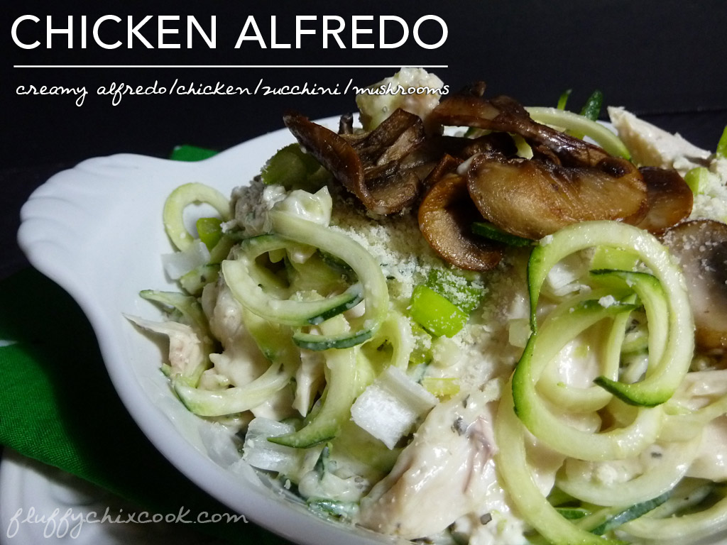 Creamy Chicken Alfredo Zoodles with Mushrooms – Low Carb Keto Ease!