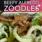 Beefy Alfredo Zoodles – Dr. Westman's No Sugar No Starch Meal Plans