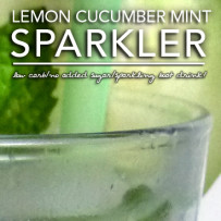 Lemon Cucumber Mint Sparkler – Low Carb Beverage Make-Over