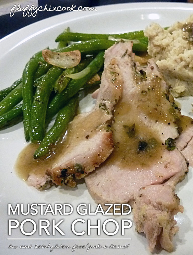Mustard Glazed Pork Chops with Pan Gravy – Keto and Low Carb Bliss