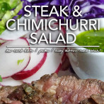 Steak & Chimichurri Salad – Easy Button Low Carb Recipes