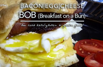 Bacon Egg & Cheese BOB (Breakfast on a Bun) | Low Carb & Gluten Free | Induction Friendly