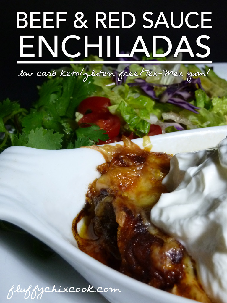 Beef Enchiladas in Red Sauce – Low Carb Keto & Grain Free | Gluten Free