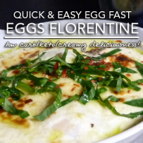 Egg Fast Recipe | Eggs Florentine – Induction Friendly & Gluten Free