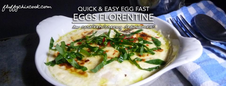 Egg Fast Recipe | Eggs Florentine – Induction Friendly & Gluten Free