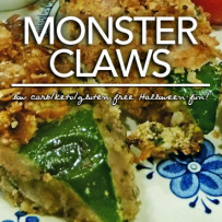 Monster Claws – Low Carb Gluten Free Chicken Fingers Perfect for Halloween!