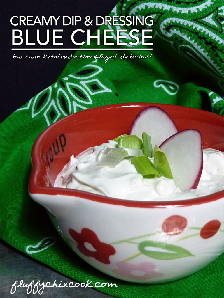 Creamy Blue Cheese Dressing – Low Carb Keto Nom!
