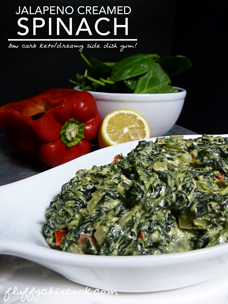 Jalapeno Creamed Spinach Perfectly Low Carb Keto