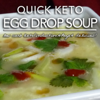 Egg Fast Recipe | Quick Keto Egg Drop Soup – Induction & Page 4 Friendly