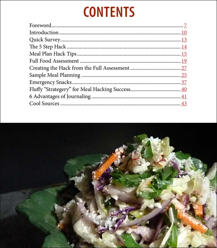 Low Carb Keto Meal Plan Hack Part 1 Sample Contents Page