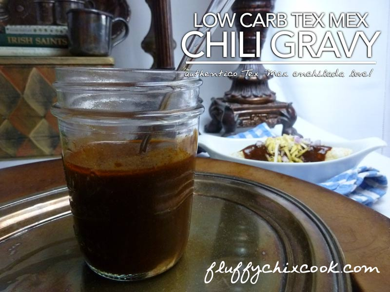 Low Carb Tex Mex Chili Gravy Close Up
