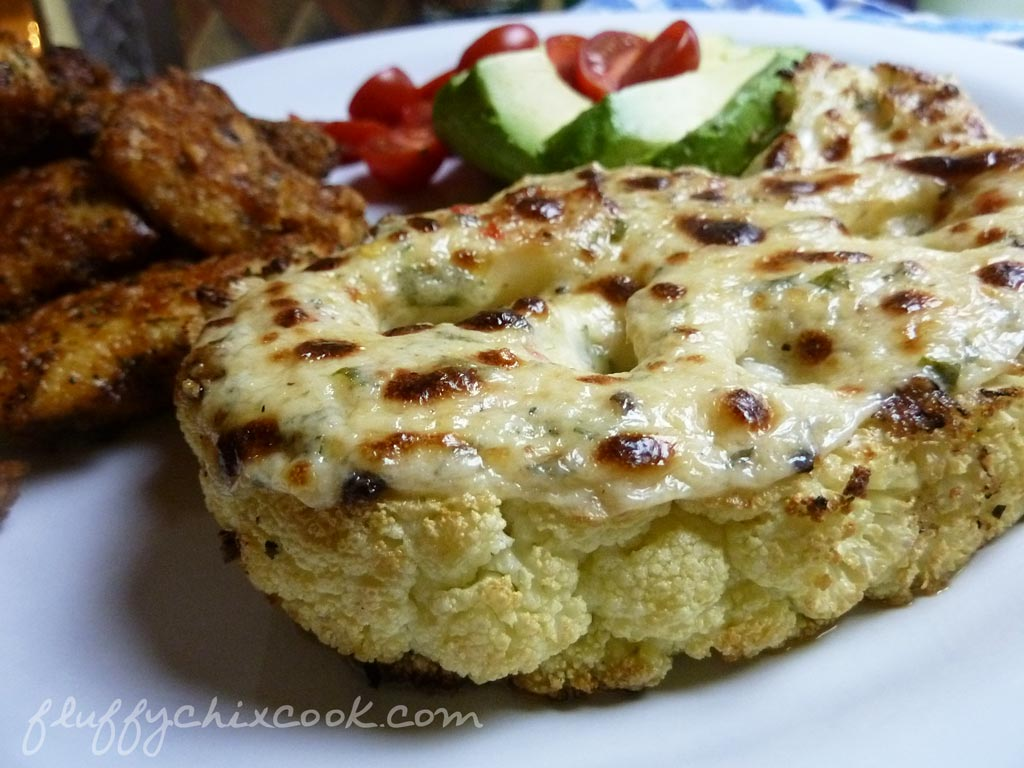 Low Carb Roasted Cheesy Cauliflower Steak Recipe