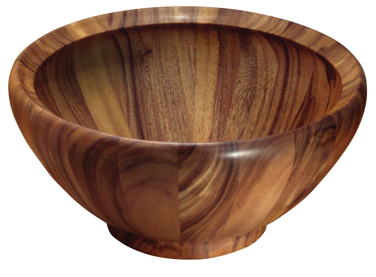 Extra Large (16x8 inch) Acacia Wood Salad Bowl