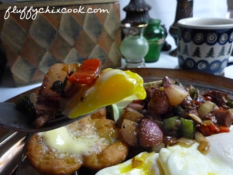 Low Carb Corned Beef Hash with Drippy Egg Yolks