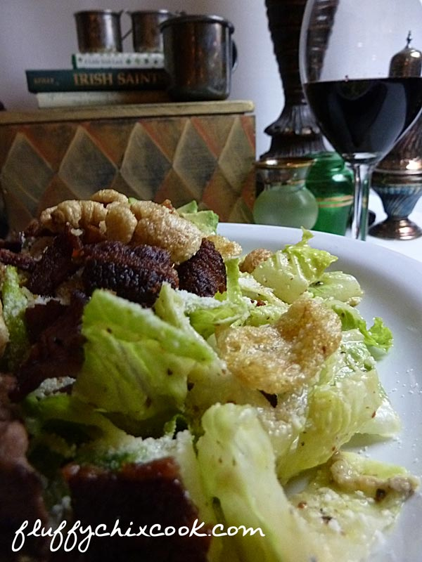 Low Carb Caesar Salad Recipe with Bacon