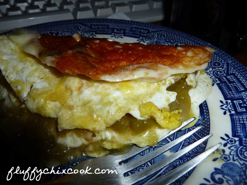 Egg Fast Fried Egg Fundido Recipe