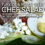 Low Carb Turkey and Roast Beef Chef Salad