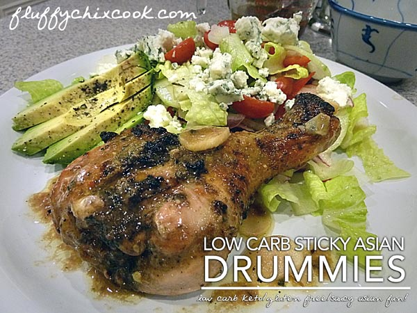 Low Carb Sticky Asian Drummies Recipe