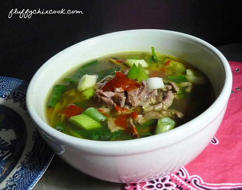 Beef Zoodle Soup Asian Style