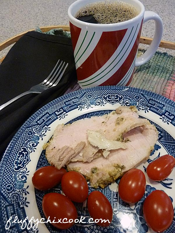 Leftover Pork Roast and Tomatoes for Breakfast