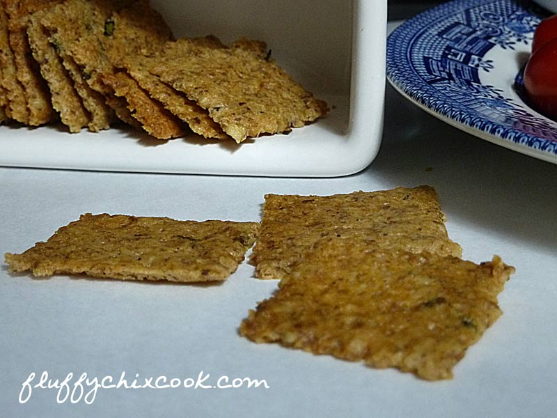 Low Carb Rosemary Walnut Crackers