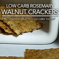Low Carb Rosemary Walnut Crackers | Keto Wheat Thin Wannabees