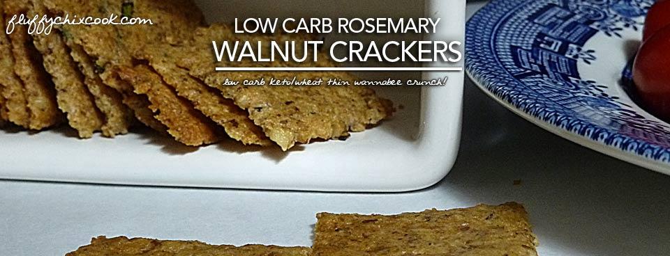 Low Carb Rosemary Walnut Crackers | Keto Wheat Thin Wannabees