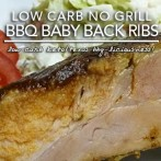 Low Carb No Grill BBQ Baby Back Ribs