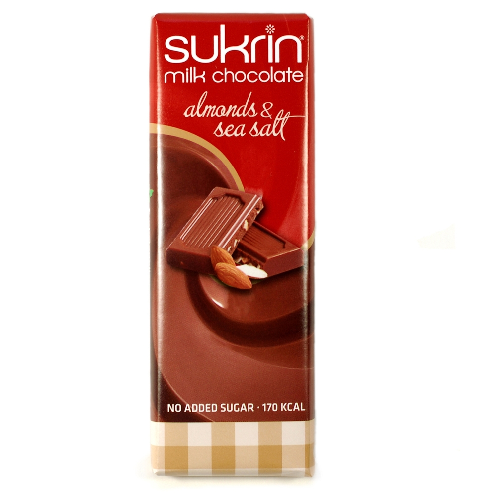 Sukrin Milk Chocolate Almonds Bar