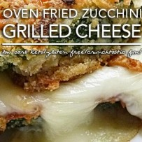 Crunchy Low Carb Fried Zucchini Grilled Cheese – Gluten Free