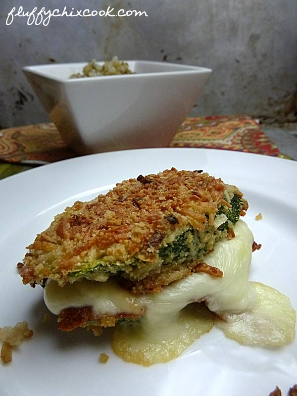 Keto Crunchy Oven Fried Zucchini Grilled Cheese