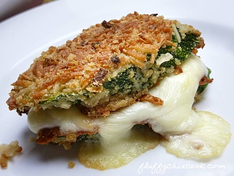 Low Carb Crunchy Oven Fried Zucchini Grilled Cheese Sandwich