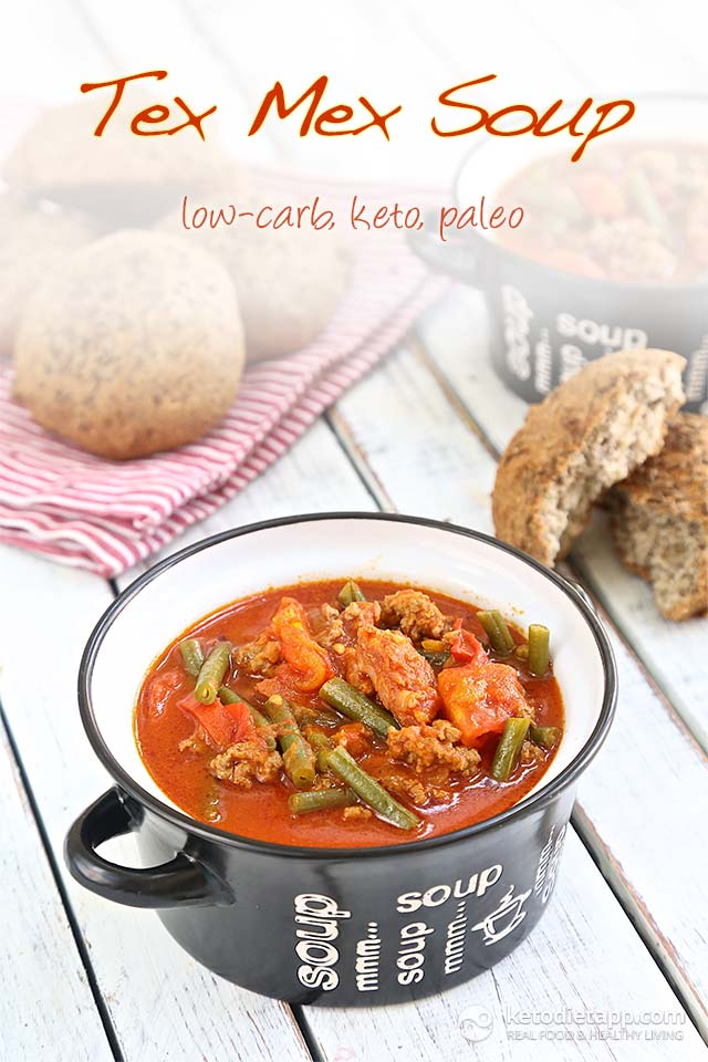 Low Carb Tex Mex Soup by Keto Diet App