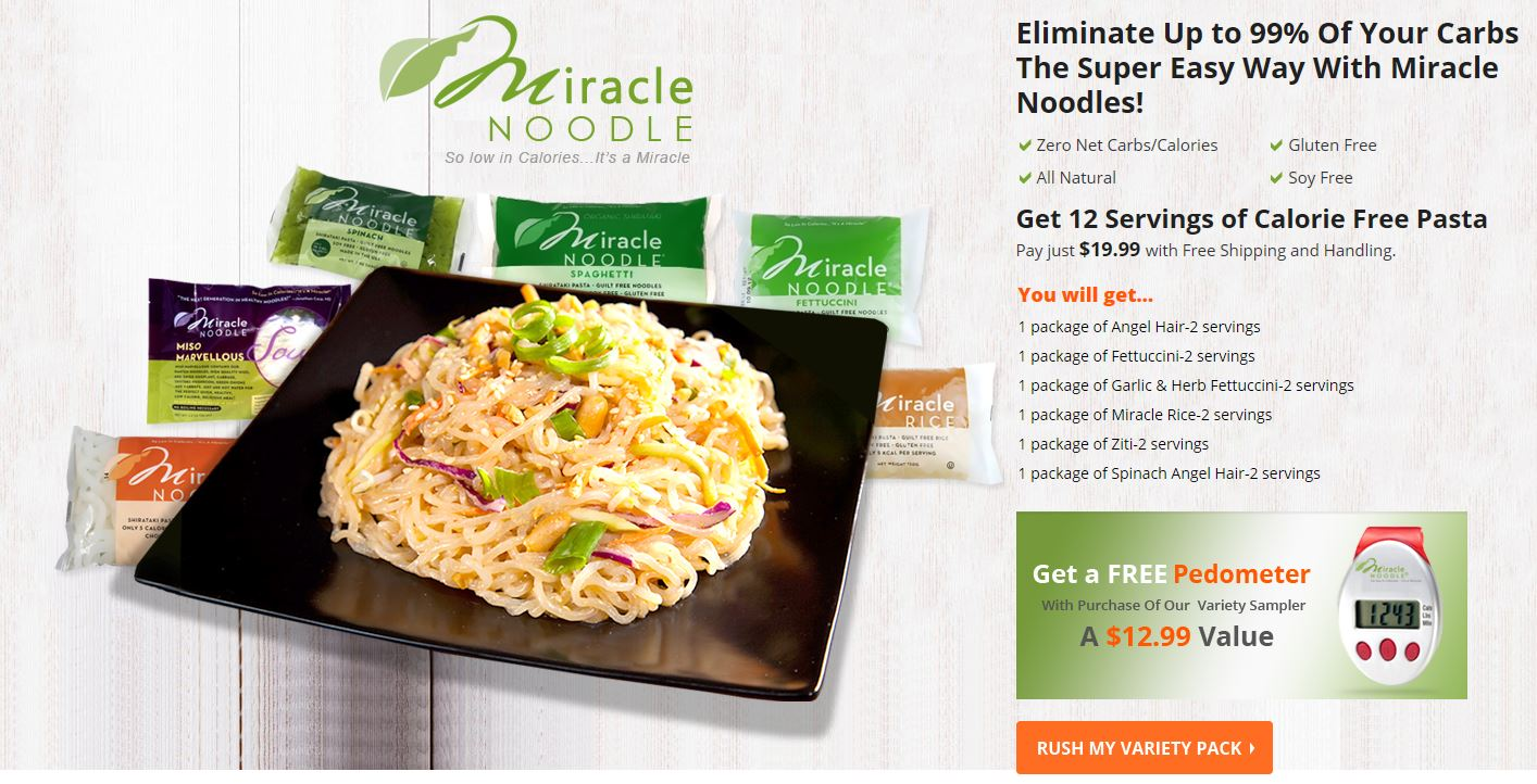 Free Shipping With Miracle Noodle Sample Pack