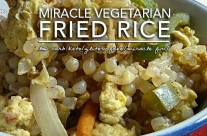 Super Quick Vegetarian Fried Rice – Low Carb and Gluten Free Miracle Rice Recipe