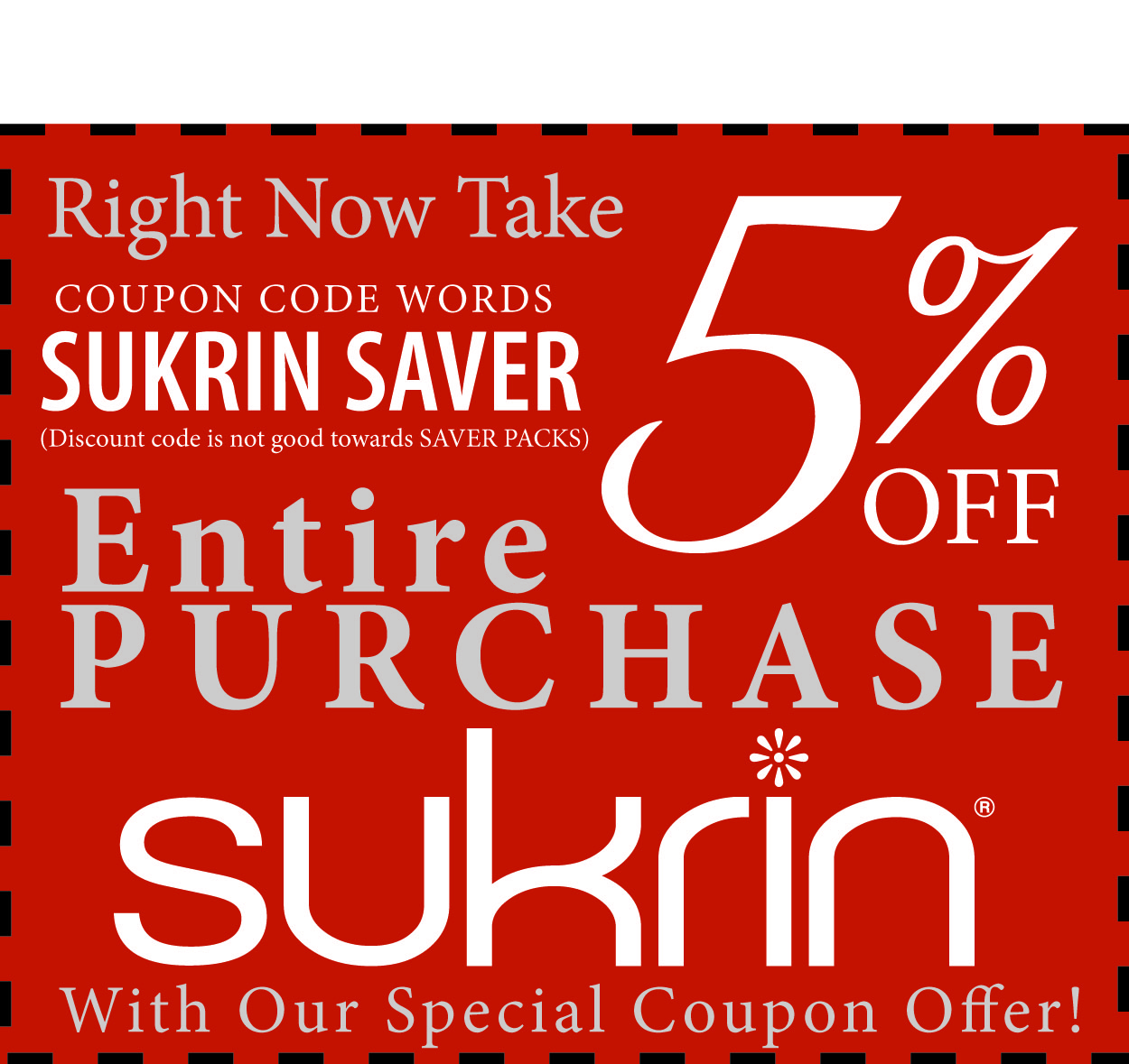 Sukrin 5% Discount Coupon