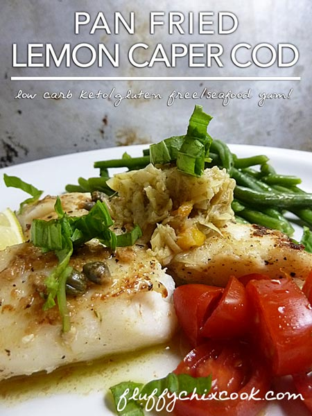 Cod with Lemon and Capers Closeup