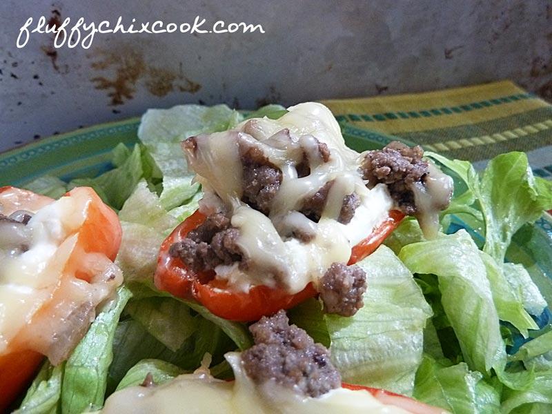 Cheesy Balsamic Tarragon Mini Peppers