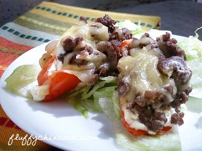 Balsamic and Tarragon Stuffed Mini Peppers