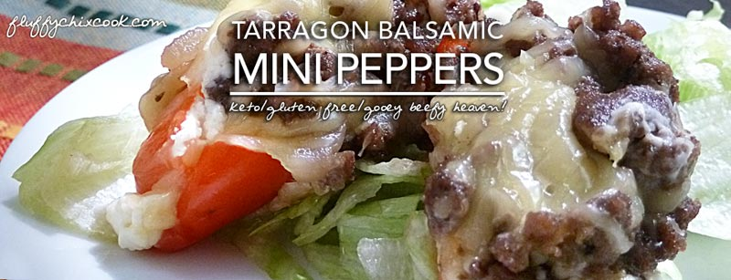 Cheesy Balsamic Stuffed Mini Peppers – Keto Allergy KISS Day 3